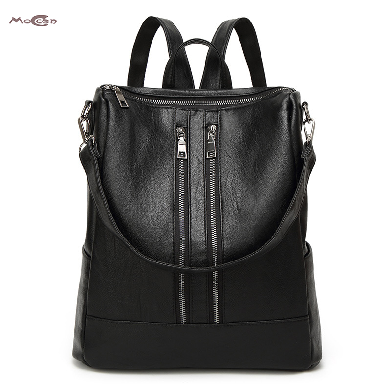 Moccen Fashion Women Bag High Quality Backpack Designer Female Backpacks Lady Shoulder Bags Soft Handle Tote