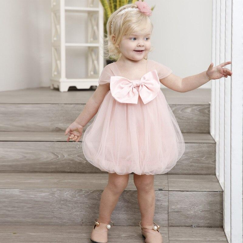 Yoyoxiu 2018 zomer baby meisje jurk roze schattige baby jurk net - Babykleding - Foto 5
