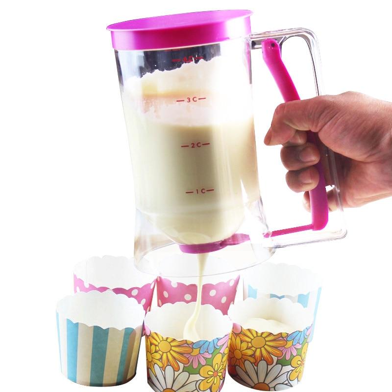 Cupcake Pancake Dessert Tools Batter Dispenser Funnel Measuring Cup Bakeware Kitchen Dining Bar Accessories Supplies Product
