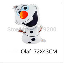 72*43cm Supershape Olaf Foil Helium Balloons Birthday Party Wedding Christmas Day Decoration Supplies Kids Gift Toy