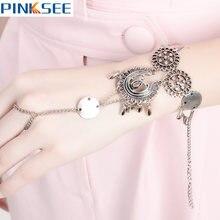 Женский браслет цепочка ручной работы из сплава в богемном стиле