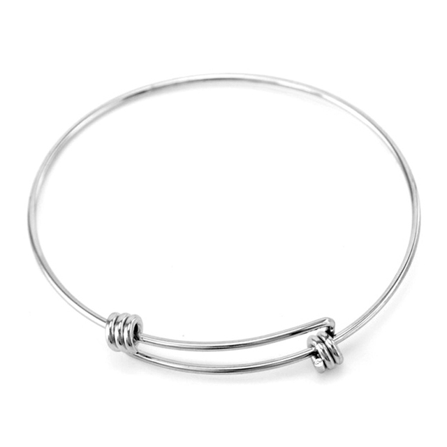 78a68b8d9de6c US $28.8 20% OFF|Aliexpress.com : Buy 50pcs 19/22CM diy jewelry Expandable  Wire Kid Adult Size Bangles Adjustable Stainless Steel high qulity Wrist ...