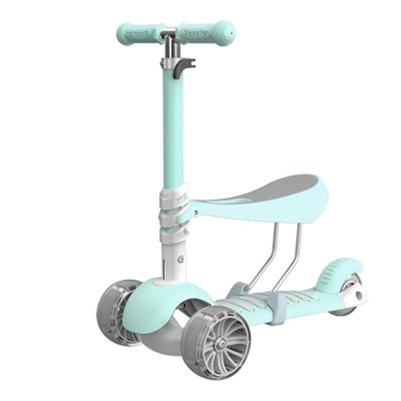 Le plus récent 3 en 1 enfants Scooter bébé marcheur trois roues détachable siège adulte enfants coup de pied Scooter pliable bébé santé Sports