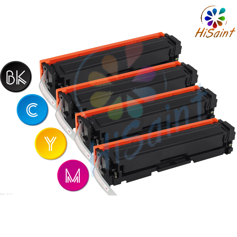 hisaint Free shipping 2018 New 201X Toner for HP Color LaserJet Pro M252dw M252n MFP M277dw M277n, w/ CHIP chip for hp enterprise cf 360 363x m 553x 553 n cf 362 363 new toner refill kits chips fuses free shipping