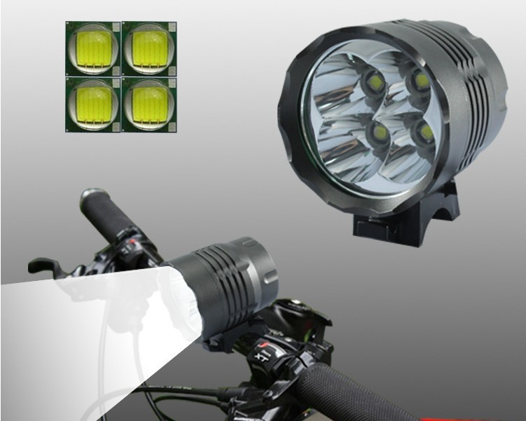 5000 Lumens 4T6 Headlight 4 x CREE XML T6 3modes LED Bicycle Light & LED HeadLight with 6400mah Rechargeable battery Pack 6000 lumens 3x cree xml u2 led x3 front bicycle lamp bike light headlamp headband 6400mah battery pack charger 4 modes