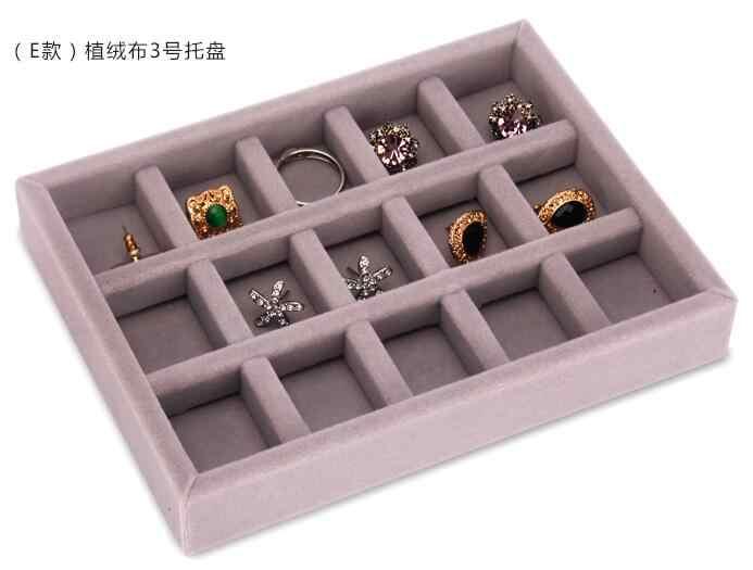 Новый ящик DIY для хранения ювелирных изделий лоток кольцо подарочная коробка для браслета ювелирные изделия Органайзер держатель серьги небольшой размер подходит для большинства помещений