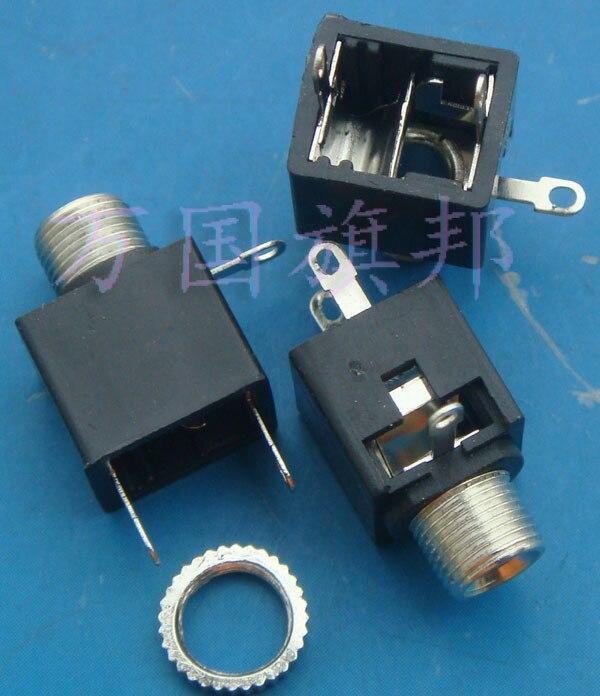 Free Delivery. 3.5 MM headphone socket Audio socket Mono with screw nut