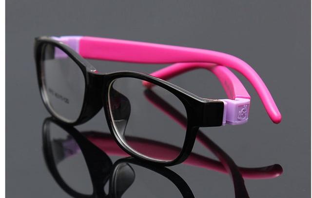 Menino Menina Sólida Flexível Macio Infantil Crianças armações de óculos  Crianças Óculos de Armação de prescrição 5429a73292