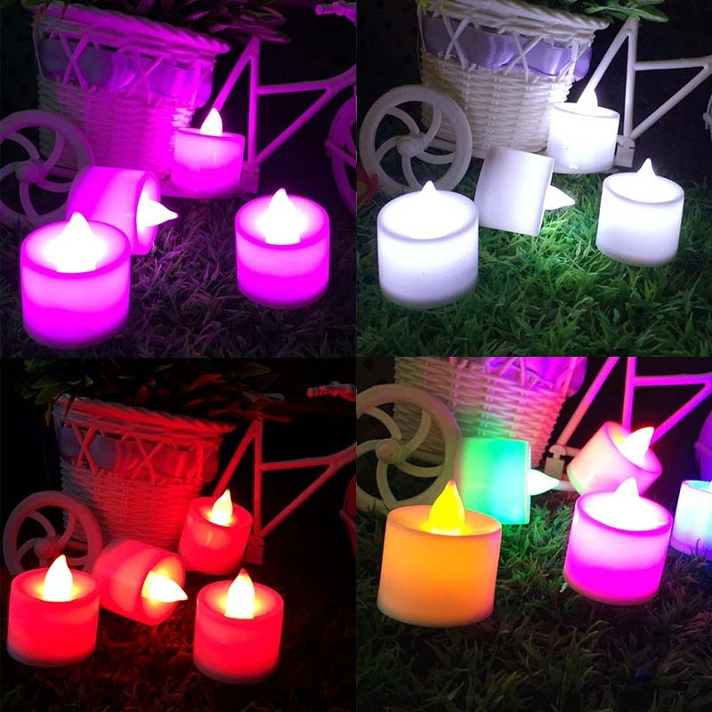 LED Cup Candle Light Wedding Event Marriage Anniversary Tealight Votive Candle With Holder TN88