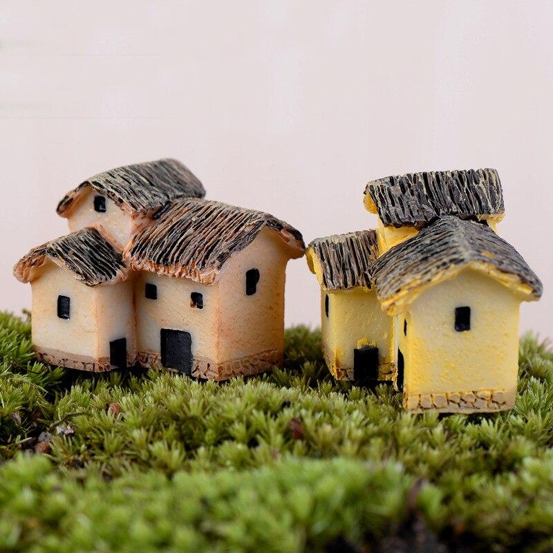 1pc Mini House Fairy Garden Miniatures Villa Figurine Castles