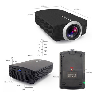 Image 2 - ThundeaL YG500 YG510 Gm80a Mini Projector 1800 Lumens LED LCD VGA HDMI LED Beamer Support 1080P YG500A 3D Portable Projector