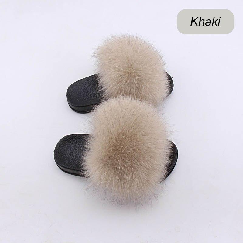 children slippers fox fur (1)