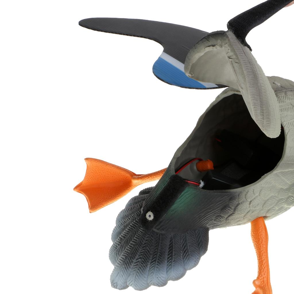PE extérieur chasse canard leurre électrique volant canard leurres RC télécommande mâle/femelle pour jardin arrière décor ornement - 4