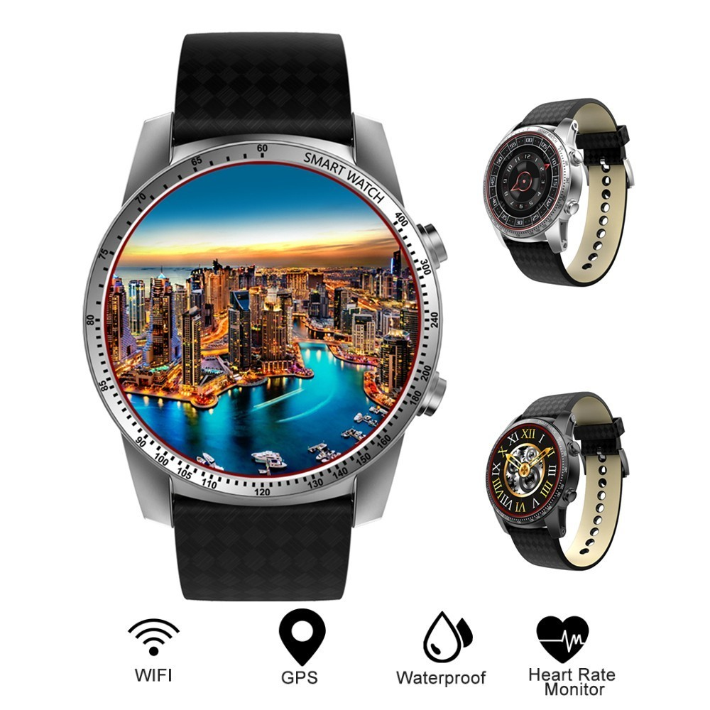 Original KW99 Men Smart Watch Leather GPS Android Phone 3G MTK6580 8GB ROM Bluetooth 5.1 SIM WIFI Heart Rate Monitor Smartwatch kw99 smart watch bluetooth smartwatch android watch phone sports tracker heart rate 3g sim wifi update from kw88 wristwatch