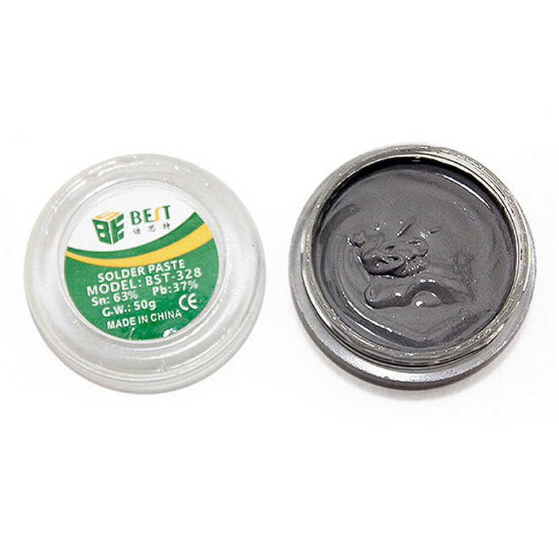 BST-328 50g Tin Paste Lead Solder For Electronics Manufacture Line Equipment IPhone Chips Rework Repairing
