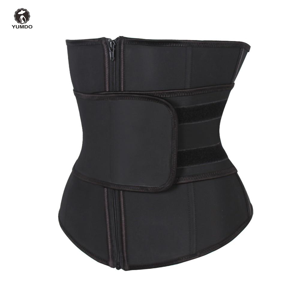 Abdominal Belt High Compression Zipper Plus Size Latex Waist Cincher Corset Underbust Body Fajas Sweat Waist Trainer Corsets