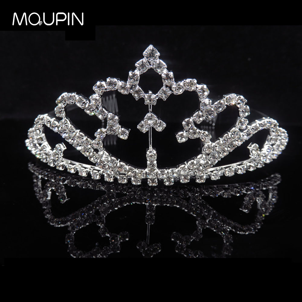 MQUPIN Luxurious Elegant Fluttering Crystal Tiaras Princess Queen women Bridal Wedding Hairwear Unique Crowns Jewelry accessory