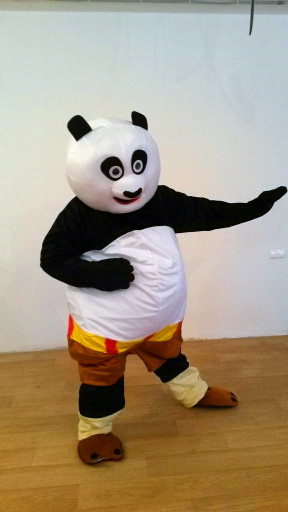 Felnőtt méret Kungfu panda Mascot jelmez Kung Fu Panda Mascot - Jelmezek