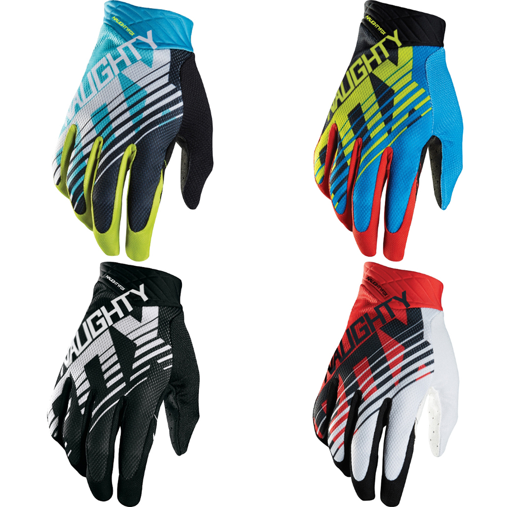 Naughty Fox Full Finger 360 Racing Motorcycle Cycling MTB Dirt Bike Off-road Riding Gloves scoyco motorcycle gloves motorbike enduro dirt bike riding gloves moto breathable motorcross off road racing gloves