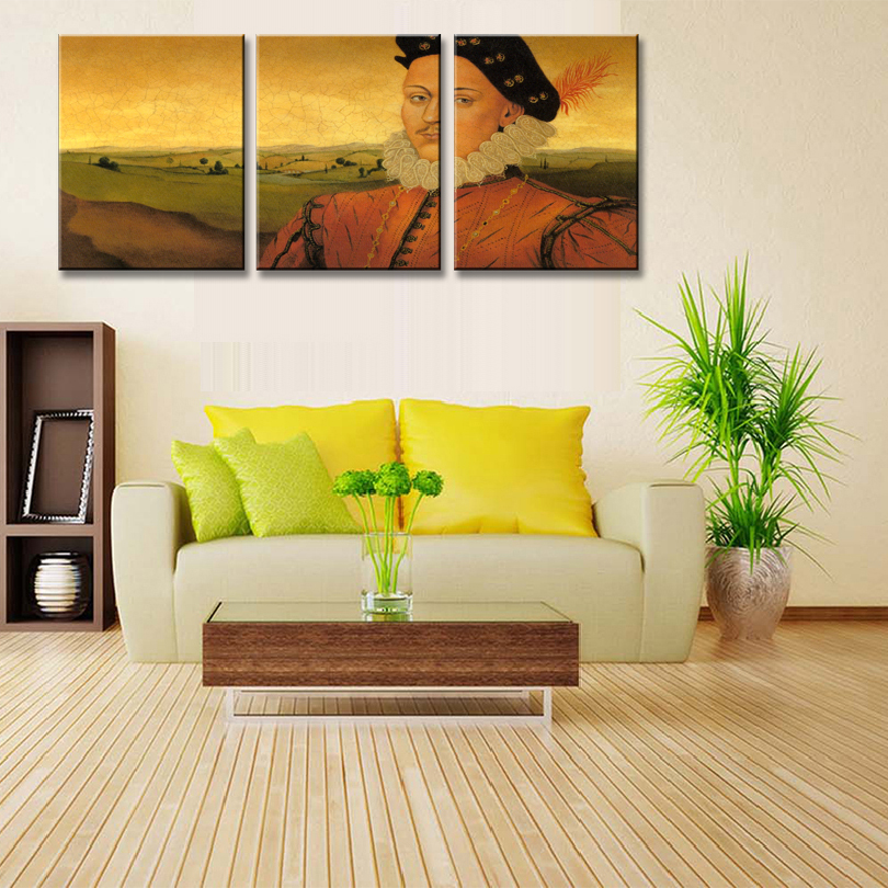 3 Pcs/Set Abstract Portrait Painting Print on Canvas With Framed ...