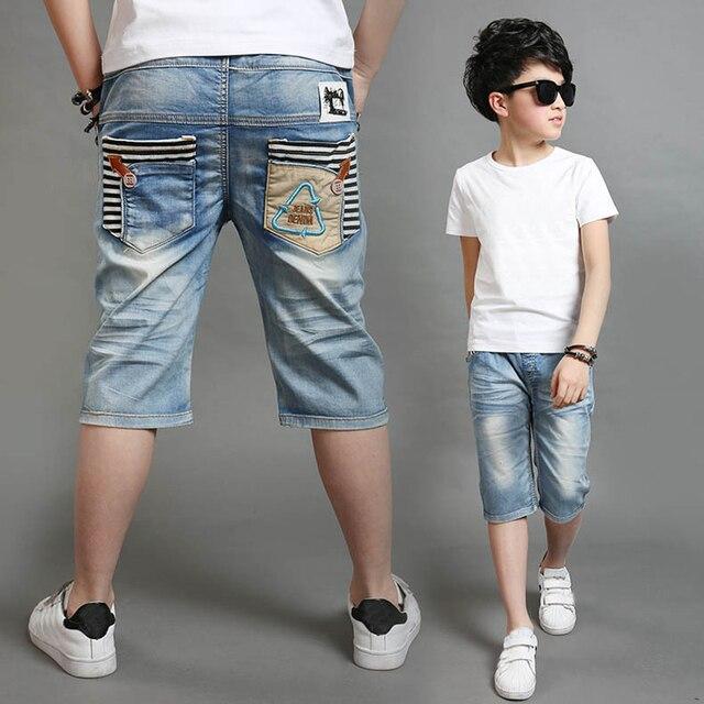 Nuevo Bebé Ropa de verano para niños de los niños pantalones vaqueros pantalones cortos caliente Niño de Denim de algodón pantalones cortos novedad pantalones al aire libre