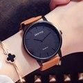 Gimto mujeres simples amantes de la chica de moda de cuero relojes vintage retro hombre mujer reloj de pulsera reloj de cuarzo del relogio reloj montre