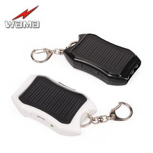 Wama Solar Panel Power Bank USB Power Bank Real 800mAh Waterproof Outdoors External Portable Panels LED Light Key Accessories