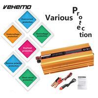 VEHEMO DC24V To AC110V Converter Solar Power Inverter Car Inverter Vehicle Charger Transformer Portable Auto Inverter Outdoor