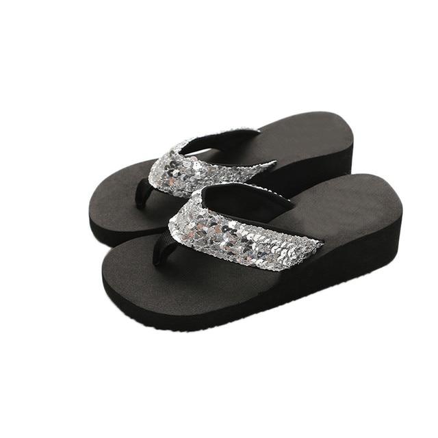 fe58c0895347a Women s Flip flops Summer Sequins Anti Slip Casual Slipper Drop Shipping  Indoor   Outdoor Flip flops Female Girls Slippers A0-in Flip Flops from  Shoes on ...