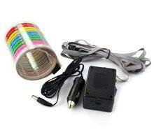 AUTO 80x19CM Car Sticker Music Rhythm LED Flash Light Lamp Sound Activated Equalizer Interior Light Bulb car-styling OC 25