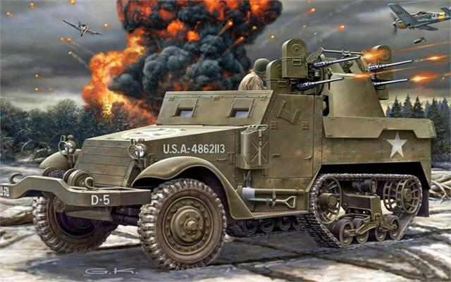 M3 Half Track Personnel Carrier M3 An Half Track Living Room Home Wall Art