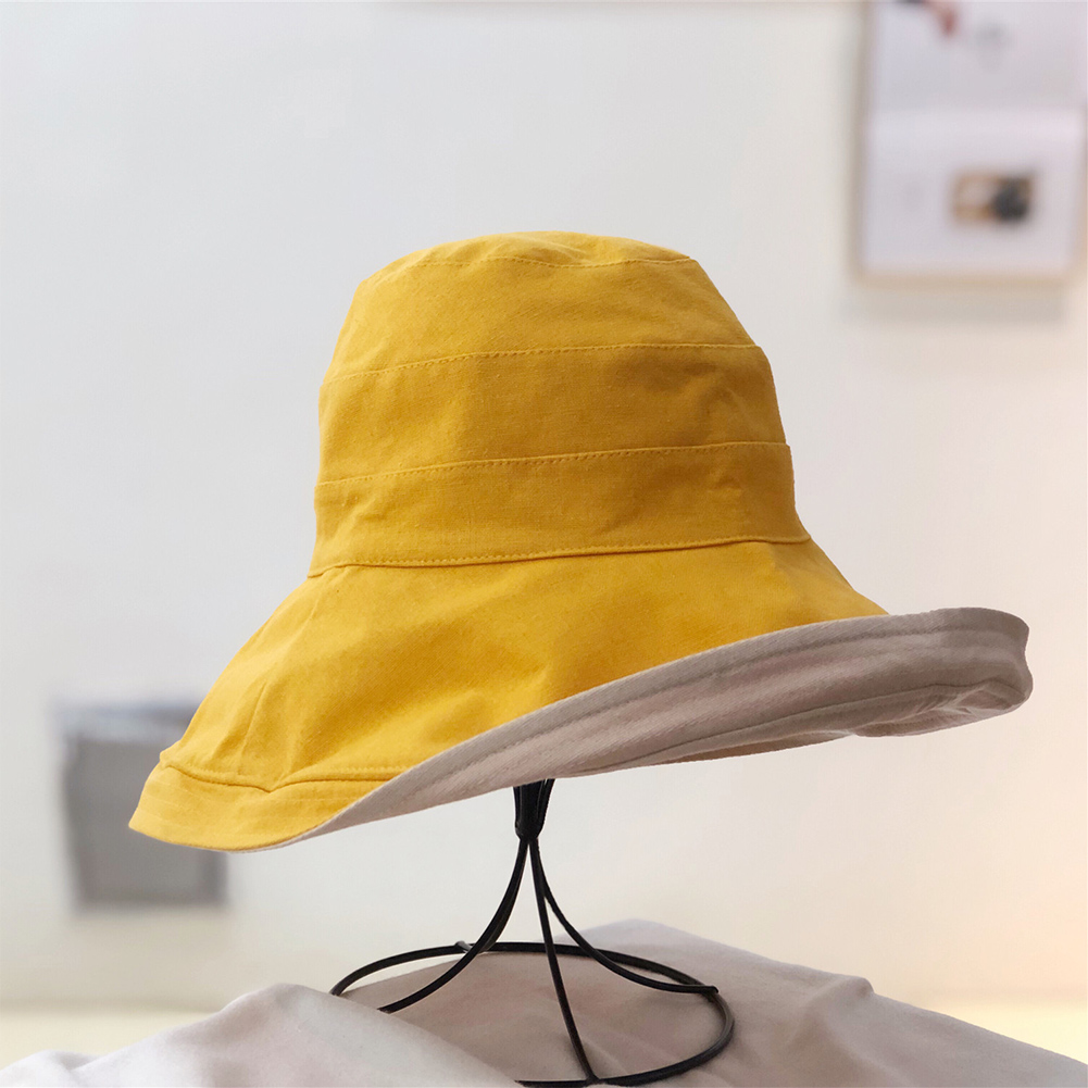 d457b6962 Women Fashion Solid Summer Foldable Cycling Casual Soft Fishing Wide Brim  Gift Beach Sun Protection Outdoor