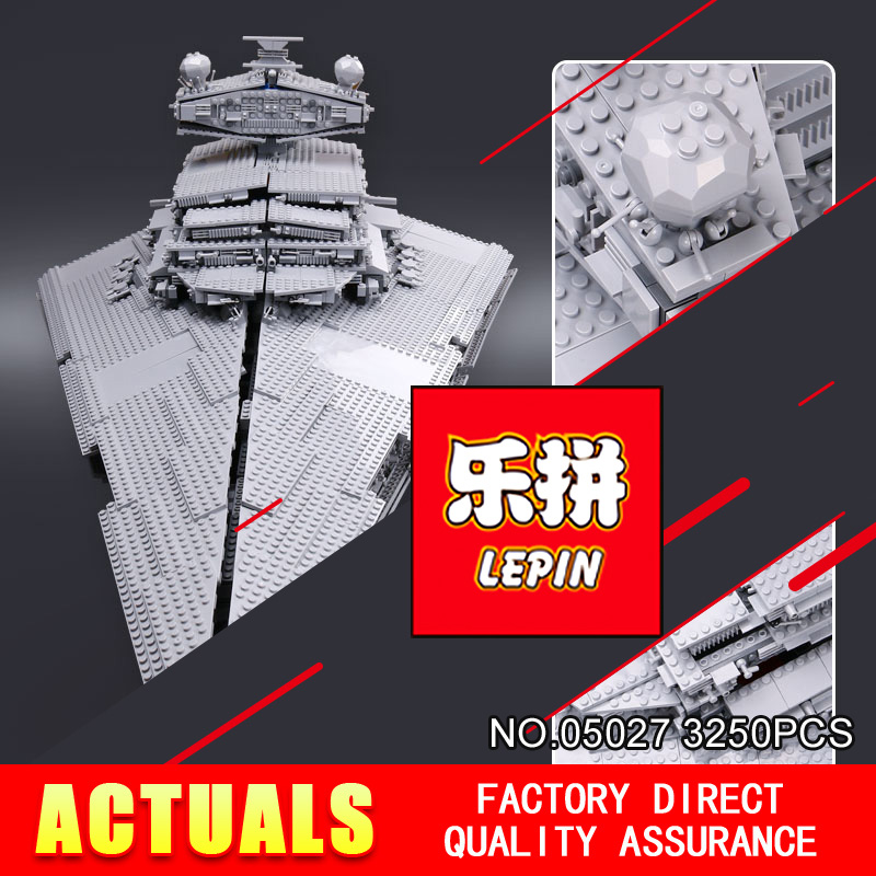 LEPIN 05027 Star DHL 3250Pcs Wars Emperor fighters starship Model Building Kit Blocks Bricks Compatible 10030 to Children Toys lepin sets star wars figures 3250pcs 05027 imperial star destroyer model building kits blocks bricks educational kid toys 10030