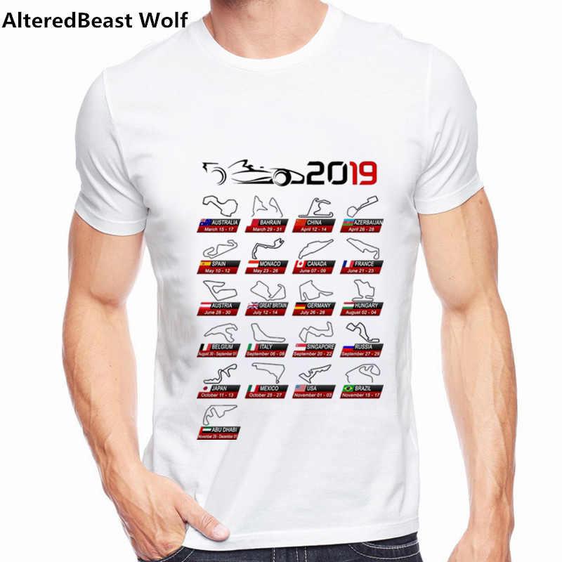 2019 летние F1 Ферстаппен футболка для Для мужчин Графический короткий рукав мужские футболки F1 Айртон вентиляторы Топы