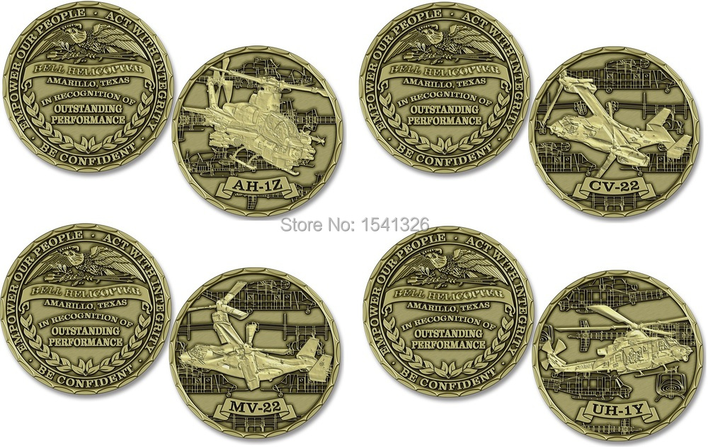 Moeda personalizada, Moeda Americana Bell Helicopter Challenge Coin, 200 pçs/lote DHL frete grátis