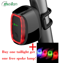 Bicycle Light Meilan X6 Smart Bike Light Bicycle Rear Back Led Light Usb Rechargeable Seatpost Cycling Tail Lamp Road Bike Light