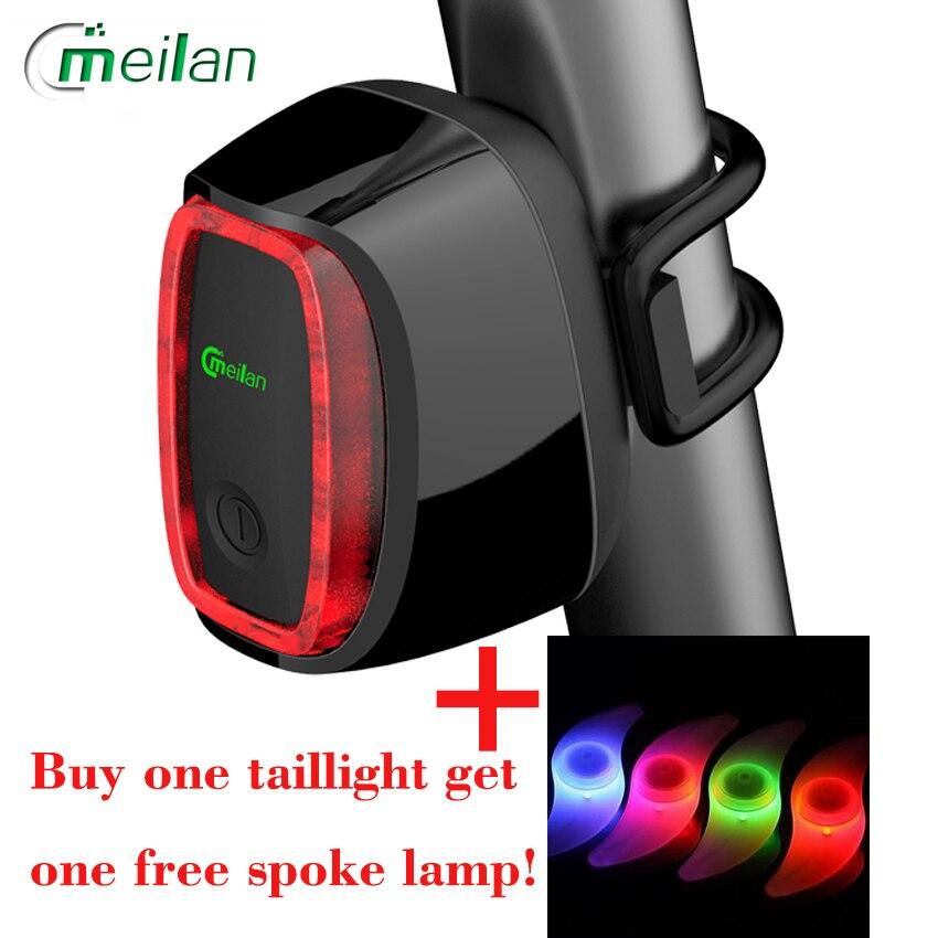 Meilan X6 Inteligente Luz de la bicicleta Bicicleta Luz Posterior de La Biciclet