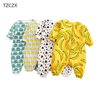 TZCZX 1pcs New Summer Children Baby Boys Girls Rompers Novelty Cartoon Printed Jumpsuit For 3 To