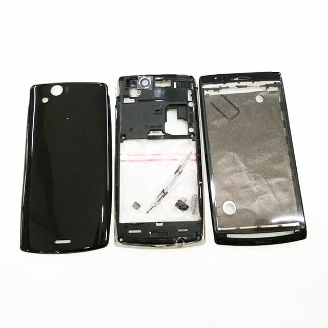 Оригинал Для Sony Ericsson Xperia Arc S LT18 LT18i LT15i LT15 Полный Жилищно Батарейного Отсека Задняя Крышка Крышка