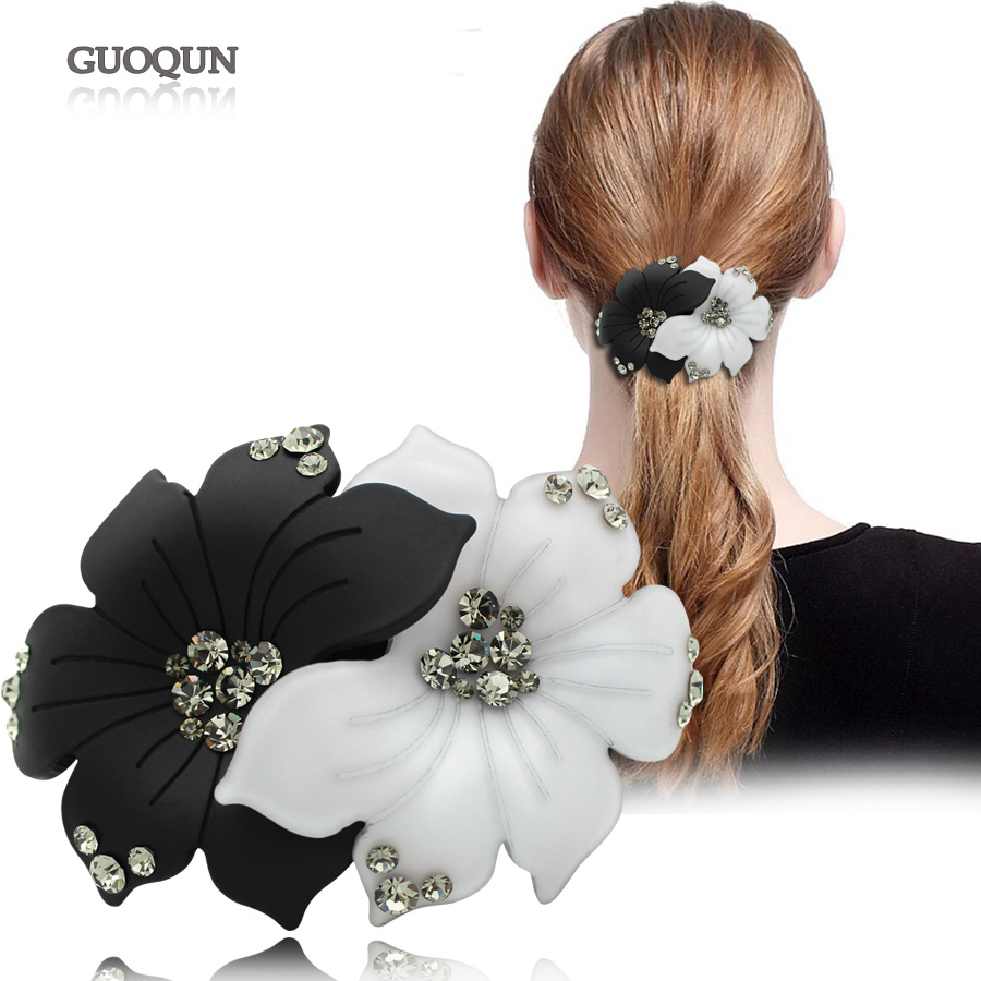 Flower Hair Clip - Accesorio para el cabello - Acetate Rhinestone Hair Jewelry Ornament - Hair Barrette para mujeres Tiara Braids Bridal