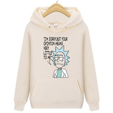 Animation Hoodie Rick And Morty Sweatshirts Men 2018 New Hot Selling Freestyle Mens Casual Tracksuit Unisex