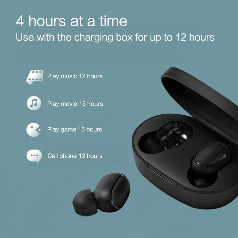 Xiaomi Redmi AirDots bluetooth earphone Mini True mi Wireless Bluetooth 5.0 earphones DSP Active Noise Cancellation Earbuds 3