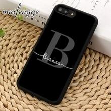 Maifengge индивидуальный под заказ мраморный первоначальное имя чехол для телефона для iPhone 11 Pro X XR XS MAX 5 6 7 8 Plus samsung s7 s8 s9 s10