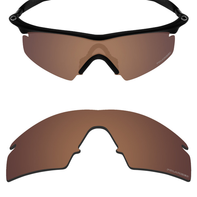 fb72b0bae5f Mryok+ POLARIZED Resist SeaWater Replacement Lenses for Oakley M Frame  Strike Sunglasses Bronze Brown
