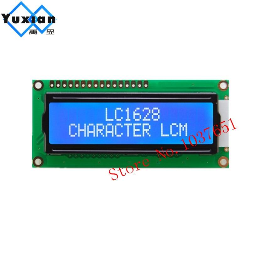 2pcs LCD 1602 162 16x2  3.3v 3v blue LCD display module 80X36mm high quality LC1628 SPLC780D HD44780 WH1602B LMB162AFW-22pcs LCD 1602 162 16x2  3.3v 3v blue LCD display module 80X36mm high quality LC1628 SPLC780D HD44780 WH1602B LMB162AFW-2