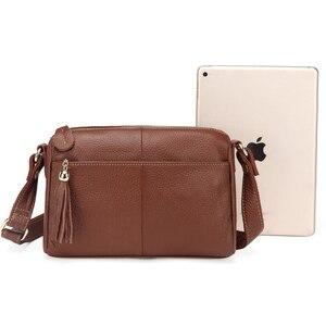 Image 5 - Женская сумка мессенджер из 100% натуральной воловьей кожи, винтажная маленькая сумка через плечо для девушек, мм2315