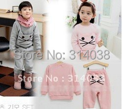 Promotions now winter wear in winnter keep warm 2 color choose baby cloth new arrived top+pant