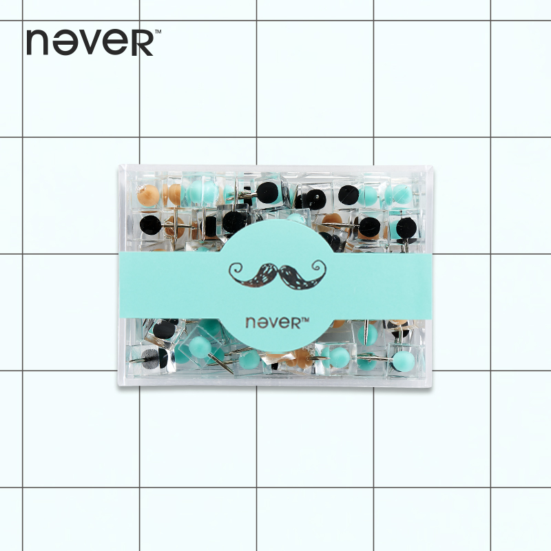 Never Transparent Color Thumbtack Nail Plastic Push Pin For Photo Wall Soft Board Wood Cork Board Map Pins Fashion Creative-gift