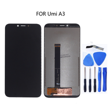 FOR UMI umidigi A3 original LCD touch screen digitizer component repair parts for UMI A3 screen LCD display free shipping