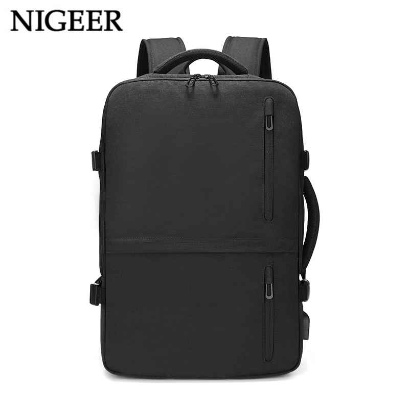 Multifunction 15.6 inch Laptop Backpack Large Capacity Expansion with USB Charging Port Travel Backpacks Water Repellent n1711